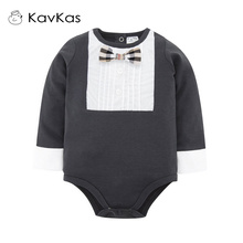 Kavkas Baby Boy Romper Gentle Tie Design Newborn Cotton Baby Boy Jumpsuits Next Mamelucos Para Bebes(China)