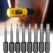 8Pcs Professional and Practical Magnetic Torx Screwdriver Bits Set Electric Screwdriver 50mm Length Best Tool