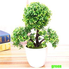 wedding decorative flowers wreaths Artificial flower Trigeminal potted bonsai fake flower plant pine trees free shipping(China)