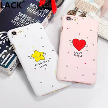 LACK Cute Cartoon Smile  Angel Star Funny Love Heart Back Cover Hard PC Phone Cases For iPhone 7 Plus For iPhone 5 5S 6 6S Plus
