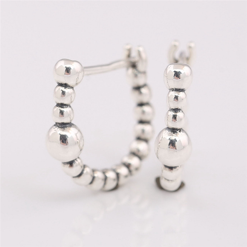 P-D-2279 (2)String of Beads Hoop Earrings