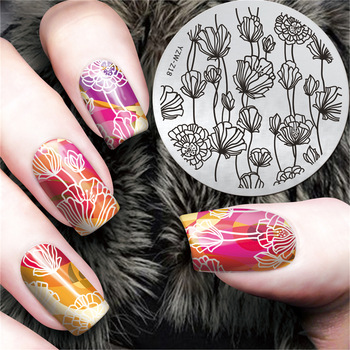 YZWLE 1Pc Chic Flower Nail Art Stamp Template 3D Fashion Pattern Polish Printing Stamping Plates Beauty Stencils For Nails
