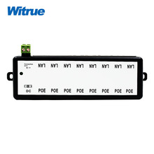 Witrue POE Injector 8 port for Video Surveillance IP Cameras 802.3af POE Power Injector