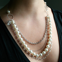 New Fashion colar vintage Jewelry imitation pearl present pingentes channel necklace Clavicle Choker Pendant Necklaces