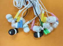 Wholesale 200pcs In-ear earphone colorful headset for iPod MP3 MP4 Mobile Phone DHL Free Shipping