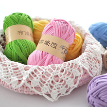 100g/pc 30M Fancy Yarn for Knitting Thick Thread Crochet Candy-colored Cloth Yarns Ribbon Hand Knit Wool Hat Yarn Craft