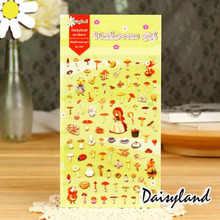 D01 1 Sheet Lovely Cute Mushroom Girl Sticker Adhesive Craft DIY Decor Stationery Stick Label Notebook Diary Decoration