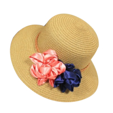MAKE Hot Women new flower basin straw hat summer beach sunscreen fisherman hat shading sun hat Coffee(China)