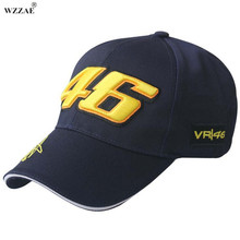 WZZAE 2017 New F1 Racing Cap Car Motocycle Racing MOTO GP VR 46 Rossi Embroidery Brand Hiphop Cotton Trucker Baseball Cap Hat(China)