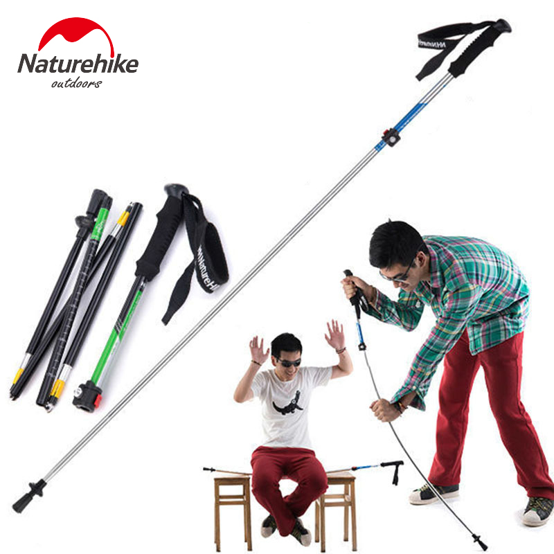 NatureHike Ultra-light EVA  Handle 5-Section Adjustable Canes Walking Sticks Trekking Pole Alpenstock For Outdoor 1PCS<br>