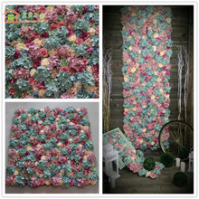 sweet new home Mixed color Artificial silk rose flower wall wedding background lawn/pillar road lead market decoration