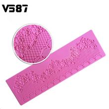 Silicone Lace Mold Flower Chain Decoration Lace Mat Cake Mold Bakeware Baking Fondant Decoration Tools for Wedding Cake