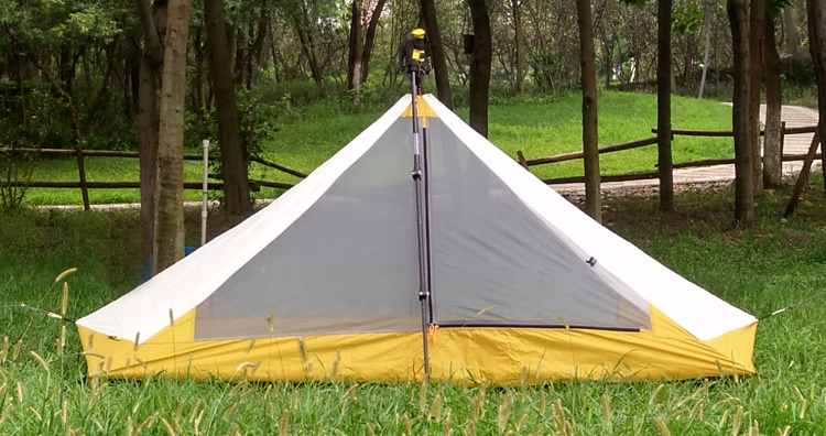 Ultralight 1 Person 410G Camping inner Tent Outdoor 20D Nylon Both Sides Silicon Coating Rodless Pyramid outdoor zelt inner Tent<br>