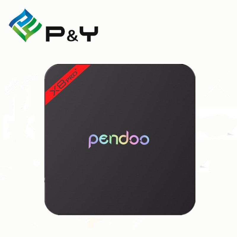 2017 New Product Pendoo X8PRO+ 1G8G Amlogic S905X Android6.0 Tv Box EMMC 4k 2k Full HD 1080p Smart Media Player P&Y