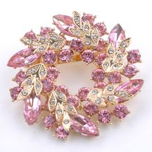 1 Pcs Bling Bling Crystal Rhinestone Golden Chinese Redbud Flower Brooch Pins Jewelry Women Brooches for Scarf(China)