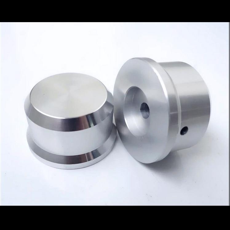 1 PCS 15*15 Matte silver aluminum amplifier solid knob Volume potentiometer knob