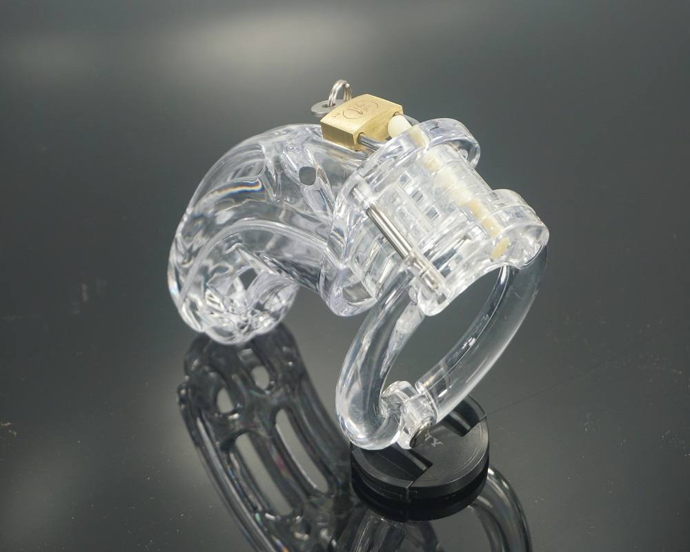free shipping CB4000 male plastic chastity cage device SM penis ring bondage sex toys for men 5