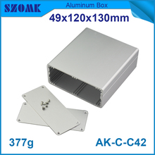 1 piece free shipping aluminum router enclosure case acrylic project enclosure 49*120*130mm 1.93*4.72*5.12inch(China)