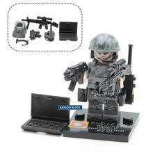 Military Swat Police Gun Weapons Pack Army soldiers Figure with Weapon building blocks City Police Batman Best Children Gift Toy(China)