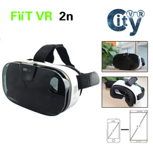 "3D VR FIIT VR 2N Virtual Reality Glasses Headset Google Cardboard fit for 4.0"" to 6.5"" for Android & IOS Phone"