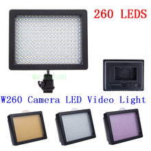 WanSen High quality W260 260pcs LED Video Camera Light Photography Camcorder Lamp Hot Promotion
