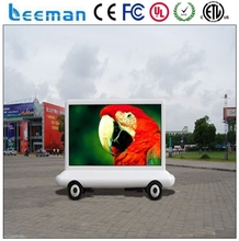 Leeman P20 CE Rohs ETL P10 Scooter Truck Video Vehicle Outdoor Advertising Screen Mobile LED Trailer