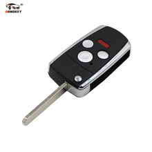 DANDKEY 3 + 1 Panic 4 Button Flip Folding Remote Key Shell Cover Fit For Honda Accord Civic Pilot CRV Ridgeline(China)