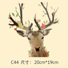 DIY clothing decorative decals patch cloth paste trendy fashion deer transfer Offset Tang Hua pattern patches