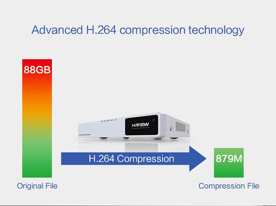 H.VIEW AHD DVR 8ch 4ch Recorder Surveillance 1TB HDD AHD DVR 8ch 4ch Recorder Surveillance for Analog TVI CVI IP Camera (7)