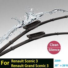 "2ps car stickers Wiper blades for Renault Scenic 3 and Grand Scenic 3 (From 2009 onwards) 30""+26R"" fit bayonet type wiper arms"