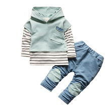 BibiCola Boy Clothing Sets 2017 New Arrival Fashion Baby Boys Shirt Fashion Clothes Sport Suit Children Bebe Boys Outfits Suit(China)