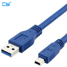 USB 3.0 A Male AM to Mini USB 3.0 Mini 10pin Male USB3.0 Cable 0.3m 0.6m 1m 1.5m 1.8m 3m 5m 1ft 2ft 3ft 5ft 6ft 10ft 3 5 Meters(China)