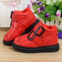 Winter new kids boots girls shoes fashion leather boots girls winter boots kids warm cotton girls boots kids shoes