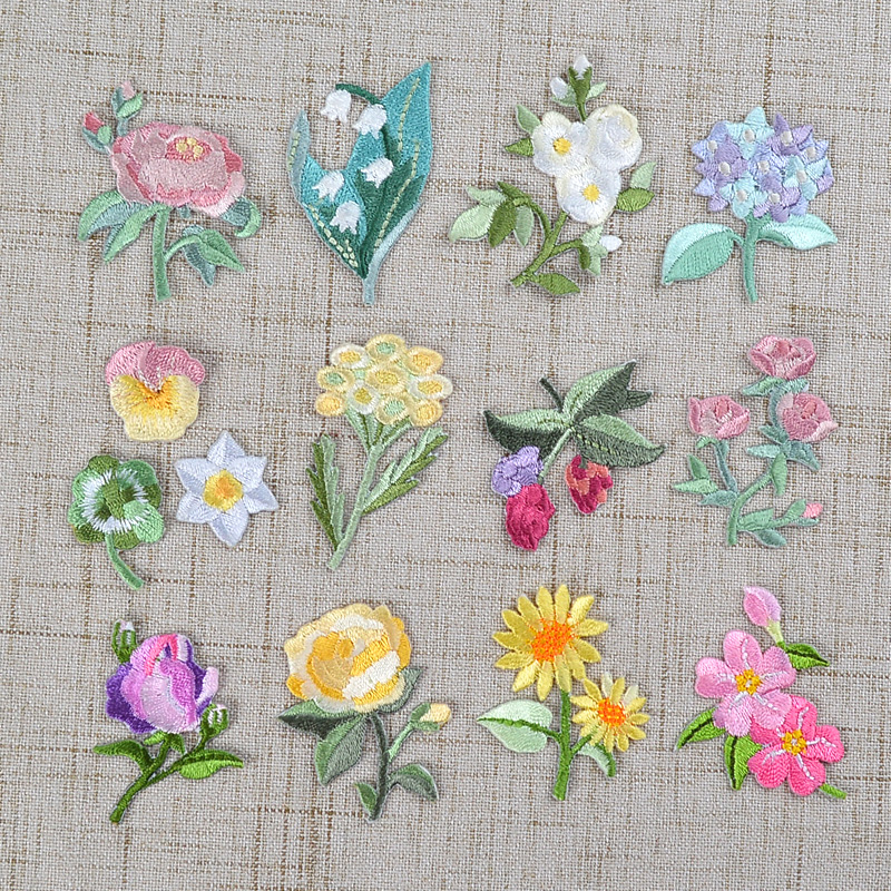 Iron on flower patches