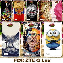 Top Selling Painting design Hard Plastic Case For ZTE Blade Q lux 4G A430 4.5 inch Qlux 4G Cell Phone Cover Protective Sleeve