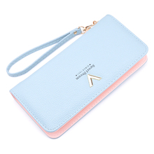 Wallet Female Ladies Purse Women Carteira Coin Holder Card Money Bag Leather Mobile Handy Long Large Wallet Zipper Perse Woman(China)