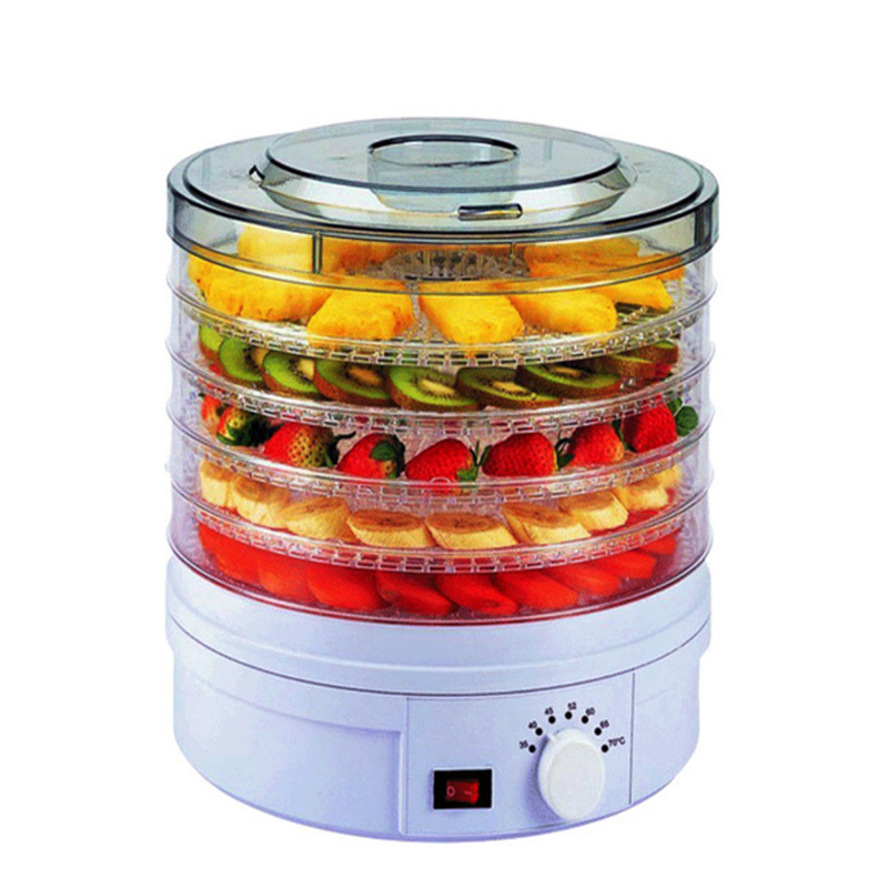 Electric Food Dehydrator Pro with 5 Drying Racks Digital Temperature Controls and Timer with Auto<br>