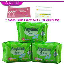 3 Packs = 30 Pcs Anytime Brand Dry Soft Clean Feminine Cotton Anion Active Oxygen And Negative Ion Sanitary Napkin For Women(China)