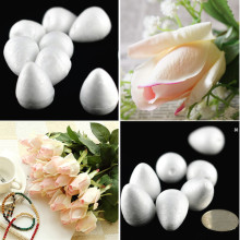 Hot Sale Natural White Foam Rose Bud For Nylon Stocking Flower Accessories(100pcs/lot) Decorative Flowers Home Decor