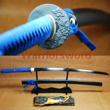 Black Blade Katana Full Tang Sword Japanese Samurai Sword #01