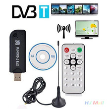 USB Dongle R820T DVB-T Realtek RTL2832U Digital HDTV Stick Tuner Receiver Black Support Russia UK Spain Most country