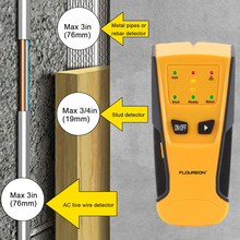 Floureon 3 in 1 Metal, AC Live Wire and Stud Finder Detector LED Light Beep Indication Auto Calibration