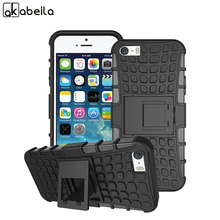 AKABEILA Cell Phone Cases For Apple iPhone SE iPhone 5SE iphone55s iPhone 5 5S 5G 55S Covers PC Armor Hybrid Tyre Case Bag Shell(China)