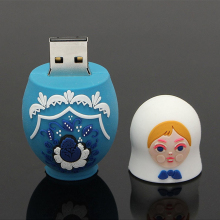 64GB USB Flash Drive Memory Stick Storage Device USB 3.0 U Disk Matryoshka Small Cute Doll Russian Style For PC Tablet Computers