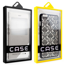KJ-560 600pcs/lot free ship Universal Mobile phone Case Package PVC plastic box Packaging Box for iphone 6S Mobile Phone Case(China)