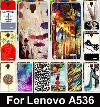 Fashion Lovely Women Girls Painted Mobile Phone Case For Lenovo A536 Cases A358t  Cover Shell Flexible Silicon Skin Hood Shield