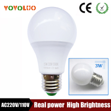 Energy Saving Ampoule E27 LED Bulb Lights 110V 220V 240V B22 LED Lamp 3W 5W 7W 9W 12W 15W High Power Lamparas LED Light Bulbs(China)