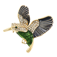 Factory Direct Sale Black Or Red Wing Hummingbird Bird Brooch for Women And Men(China)