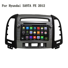 7 Inch 2 Din Quad Core Android 5.1.1 Wifi 3G/4G Stereo Radio Video GPS Navigation Car DVD Player For Hyundai SANTA FE 2012(China)