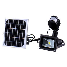10W 60 LED Chip LED Solar Lamps Lights ColdWhite light Outdoor Solar Flood lights Garden Spolight Lamps With PIR Motion Sensor